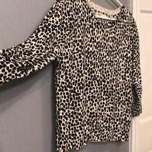 Black & white animal print sweater